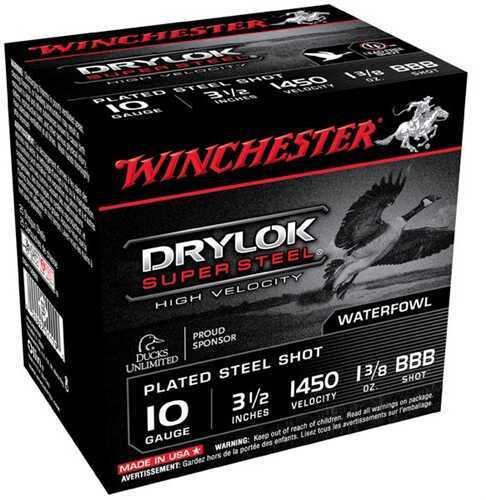 "Winchester Ammo Ssh10Bbb Drylock Super Steel High Velocity 10 Gauge 3.5"" 1 3/8 Oz Bbb Shot 25 Bx/ 10 Cs"