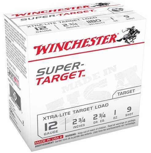 "Winchester Ammo TRGTL129 Super Target Xtra-Lite 12 Gauge 2.75"" 1 Oz 9 Shot 25 Box"