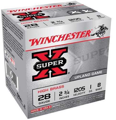 Winchester Super-X High Brass 28Ga 2.75'' 1Oz #8 25/Bx (25 rounds Per Box)