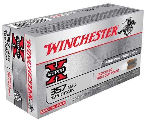 Winchester Ammo 357 Mag Super-X 125 Grain JHP (50 rounds Per Box)