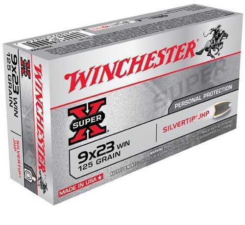 Winchester Ammo 9X23 125 Grain STHP Silvertip (50 rounds Per Box)