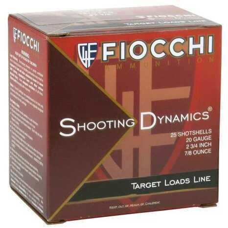 Fiocchi Ammo Sd 20Ga 2.75In 7.5 Oz 25Rd