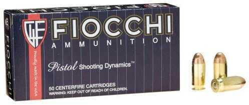 Fiocchi Shooting Dynamics 45 ACP 230 Grain Full Metal Jacket Ammunition, 50 Rounds Per Box