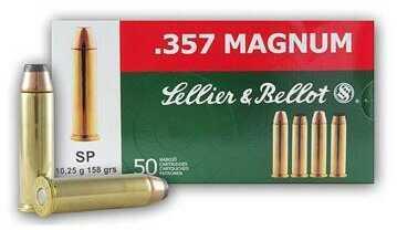 Sellier & Bellot Handgun 357 Mag 158 Grain SP 50Rd/Bx