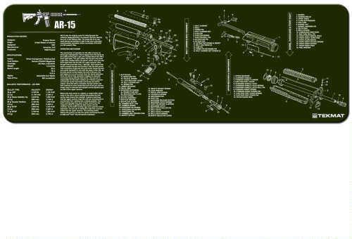 TekMat TEKMAT AR15 Olive Drab - 12X36In