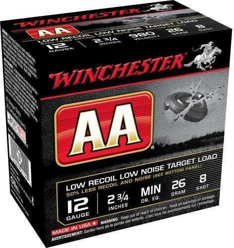 "AA Target Load 12 Gauge 2.75"" 8-Shot Target/25 Md: AA12Fl8"