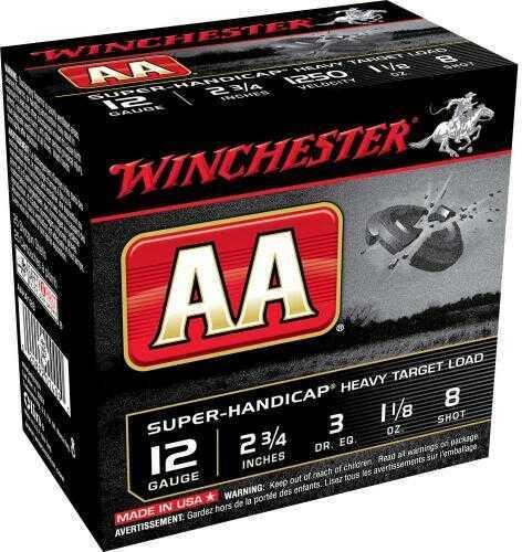"Winchester Ammo AAHA128 AA Super Handicap 12 Gauge 2.75"" 1 1/8 Oz 8 Shot 25 Box"