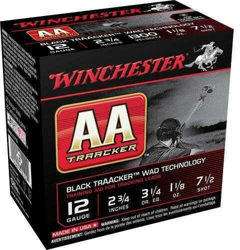 Winchester AA TRK Blk 12Ga 2.75In 1.125Oz 7.5 25/Bx