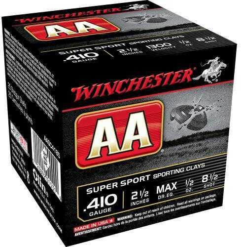 "Winchester Ammo AASC4185 AA Super Sport 410 Gauge 2.5"" 1/2 Oz 8.5 Shot 25 Box"