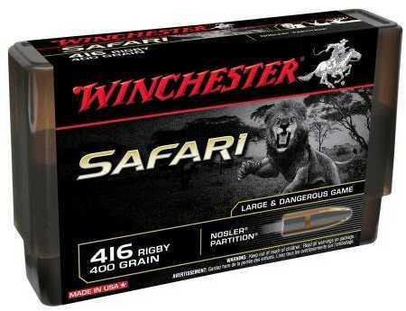 Winchester Safari 416 Rigby 400 Grain Nos Part 20/Bx