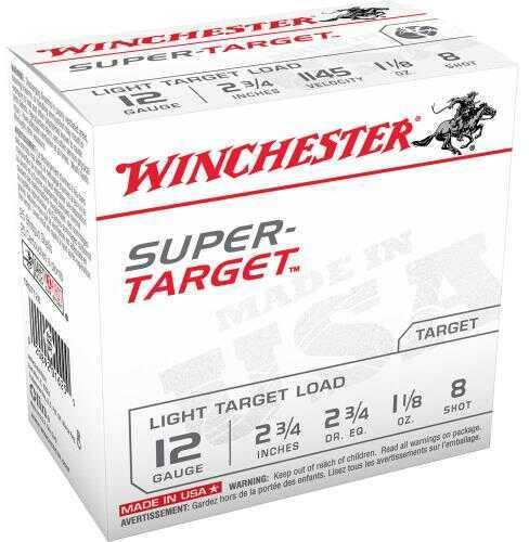 "Winchester Ammo TRGT128 Super Target 12 Gauge 2.75"" 1 1/8 Oz 8 Shot 25 Box"