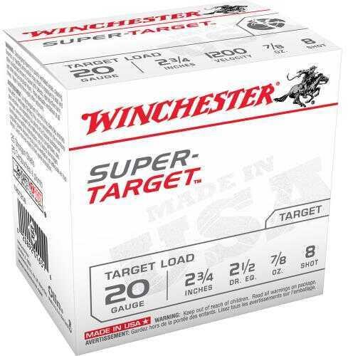 Winchester USA S TG 20Ga 2.75In .875Oz 8 25/Bx