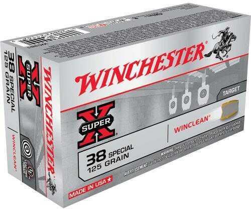 Winchester SUPR-X 38 SPC 125 Grain Wc 50/Bx