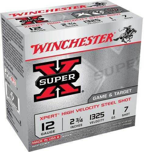 "Winchester Ammo We12Gt7 Super X Xpert High Velocity 12 Gauge 2.75"" 1 Oz 7 Shot 25 Box"