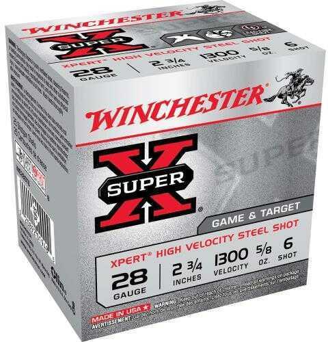 "Winchester XPERT Steel Game & Target 28Ga 2 3/4"" 5/8Oz Ammunition We28Gt6"