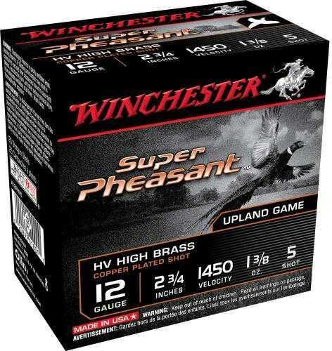"""Winchester Super Pheasant 2 3/4"""" 12Ga 1 3/8Oz #5 HV 25 Rds Ammunition X12PHV5"""