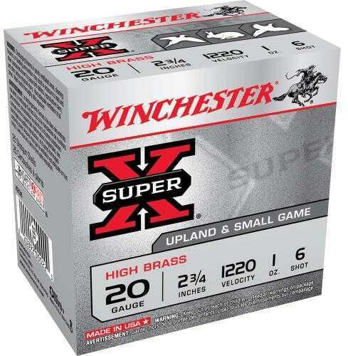 "Super X High Brass Game By Winchester 20 Gauge 2 3/4"" 1Oz 6 Shot Per 25 Ammunition Md: X206"