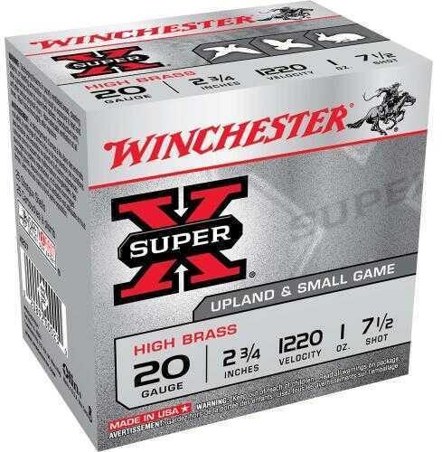 """Winchester Ammo X207 Super-X High Brass 20 Gauge 2.75"""" 1 Oz 7.5 Shot 25 Box"""