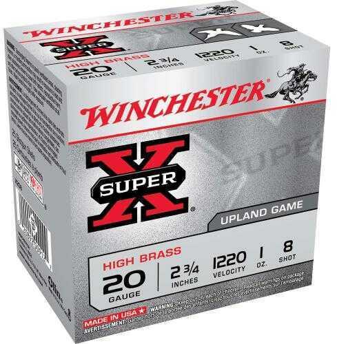 "Super X High Brass Game By Winchester 20 Gauge 2 3/4"" 1Oz 8 Shot Per 25 Ammunition Md: X208"