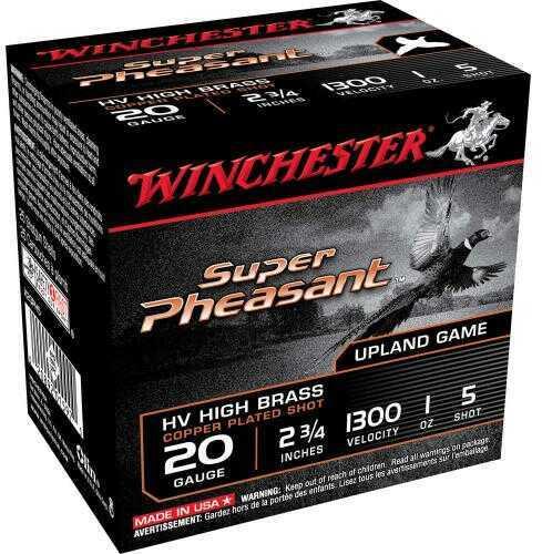 "Winchester Ammo X20Ph5 Super Pheasant Magnum High Brass 20 Gauge 2.75"" 1 Oz 5 Shot 25 Box"