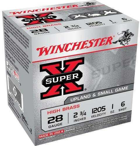 "28 Gauge By Winchester 28 Gauge 2 3/4"" 1Oz 6 Shot Per 25 Ammunition Md: X28H6"