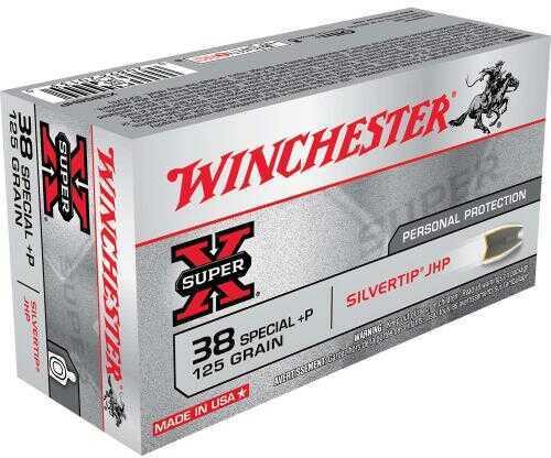 Winchester SUPR-X 38 SPC +P 125 Grain STHP 50/Bx