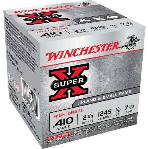 ".410 Gauge By Winchester .410 Gauge 2.5"" 1/2Oz 7 1/2 Shot Per 25 Ammunition Md: X417"