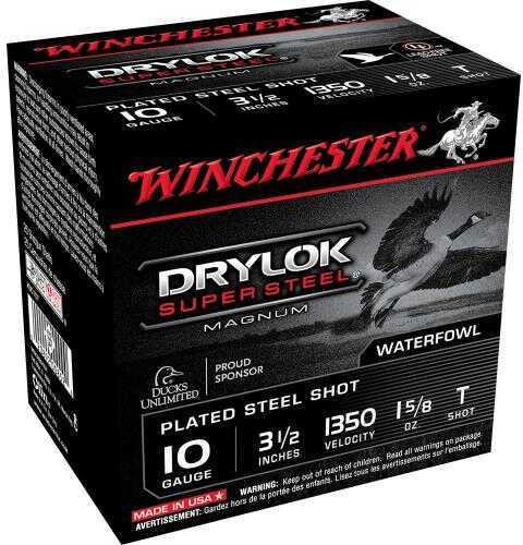 "Winchester Ammo XSC10T Drylock Super Steel Magnum 10 Gauge 3.5"" 1 5/8 Oz T Shot 25 Bx/ 10 Cs"