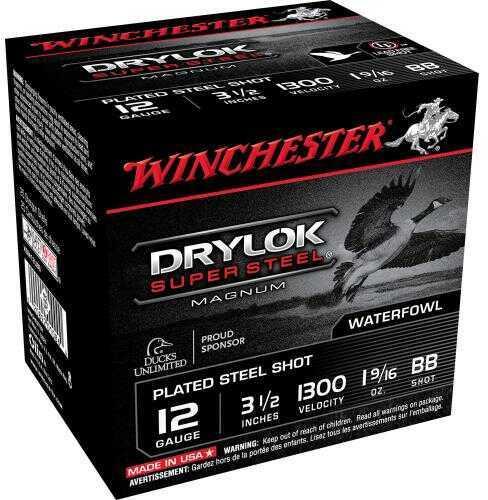 Winchester Super-X Drylok Super Steel Magnum 12 Gauge Ammunition XSM12LBB