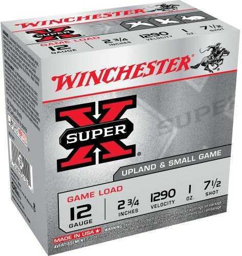 "Super X Game Load By Winchester 12 Gauge 2 3/4"" 1Oz 7 1/2 Shot Per 25 Ammunition Md: XU127"