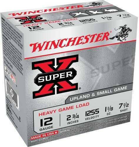 "Super X Heavy Game By Winchester 12 Gauge 2 3/4"" 1 1/8Oz 7 1/2 Shot Per 25 Ammunition Md: XU12H7"