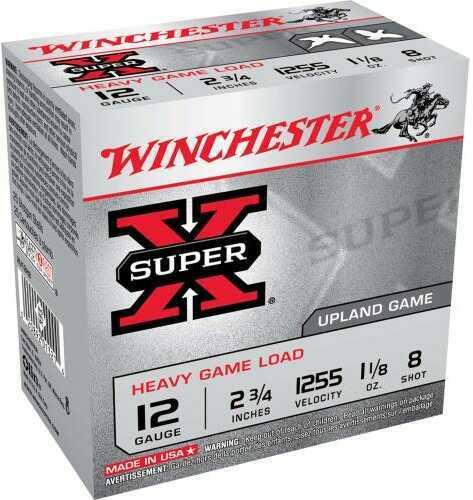 "Super X Heavy Game By Winchester 12 Gauge 2 3/4"" 1 1/8Oz 8 Shot Per 25 Ammunition Md: XU12H8"