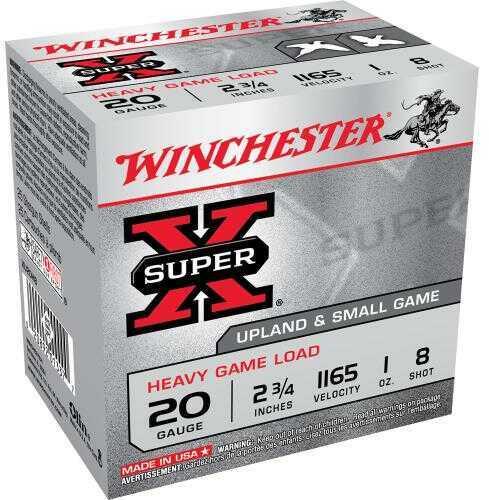 "Super X Heavy Game By Winchester 20 Gauge 2 3/4"" 1Oz 8 Shot Per 25 Ammunition Md: XU20H8"