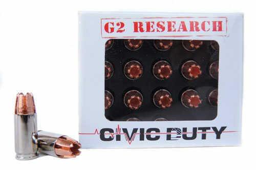 G2R Ammo Civic Duty 9MM 92 Grain 20