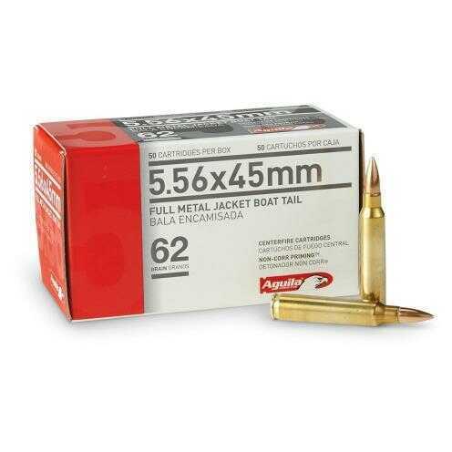 Aguila Ammo 5.56 62Gr. FMJ BT 50-Pack