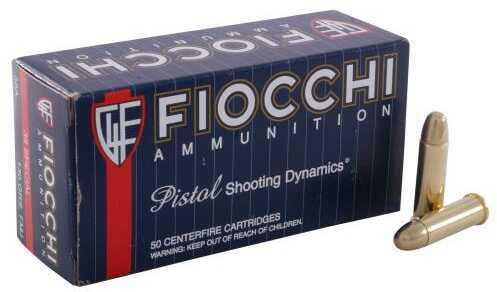 Fiocchi Shooting Dynamics 38 Special 130 Grain Full Metal Jacket Ammunition, 50 Rounds Per Box
