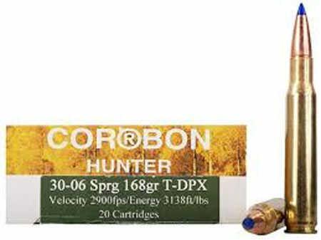 Corbon T-dpx 30-06 Ammo 168 Grain 20 Rounds Box Ammo