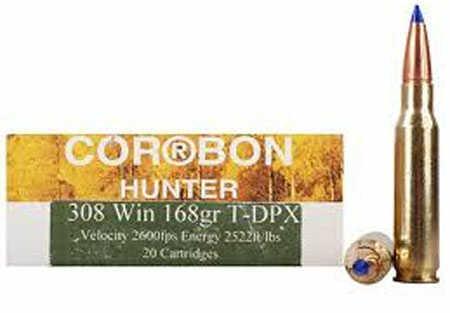 Corbon T-dpx 308 Winchester Ammo 168 Grain 20 Rounds Per Box