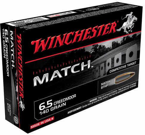 Winchester Match Grade 6.5 Creedmoor Ammo 140 Grain BTHP