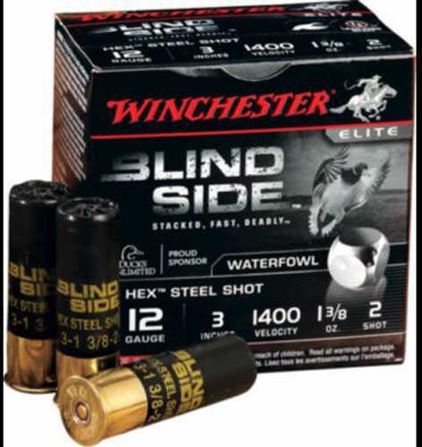 """Winchester 12 Gauge 3.5"""" Blindside #2 1 3/8Oz 25/10"""