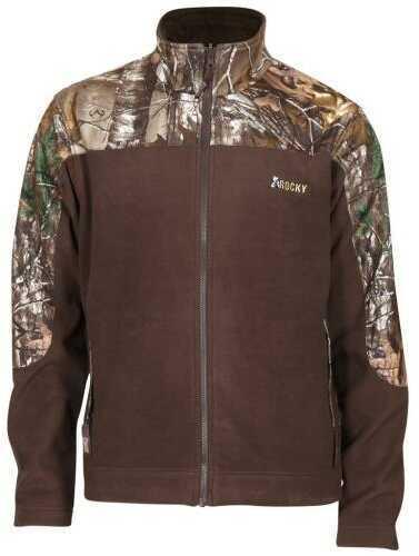Rocky Mens Fleece Jacket Realtree Xtra/ Brown Large Model: 609476-BTX-LG