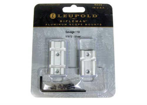 Leupold Rifleman Bases Savage 110 2Pc, Silver Finish Md: 57872