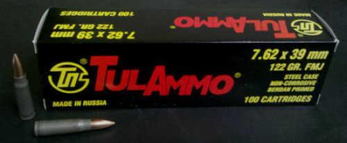 TUlA 7.62X39 122 FMJ 100 Rounds Ammuntion Ul07.6210