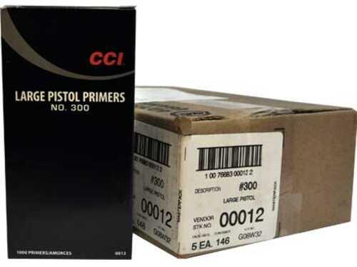 CCI #300 Large Pistol Primer 5000 Count Case
