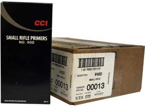 CCI #400 Small Rifle Primer 5000 Count Case