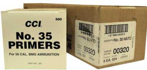CCI #35 50 Caliber BMG Primer 2500 Count Case