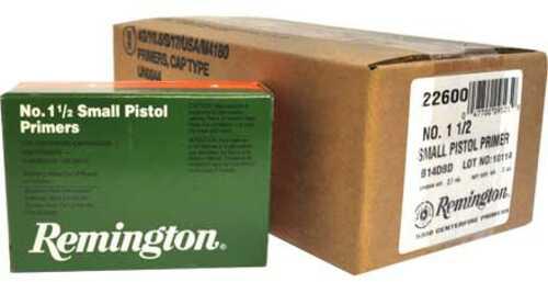 Remington 1 1/2 Small Pistol Primer 5000 Count Case
