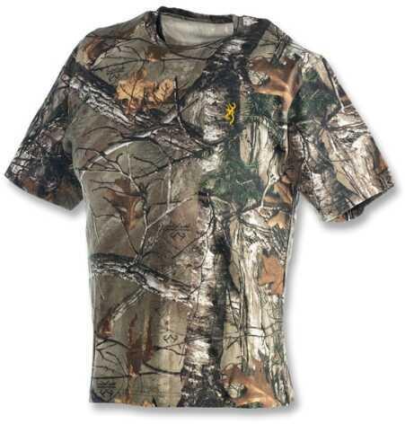 Browning Wasatch Youth Short Sleeve T-Shirt Medium, Realtree Xtra
