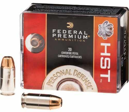 Federal Hst Pistol Ammo 380 Auto 99 Grain Hst 20Bx Model