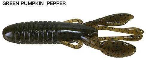 "Jackall Lures Cover Craw Soft Craw Bait Lure 4"" Body Length, Green Pumpkin Pepper, Per 8 Md: JCOVCRA4-GPP"